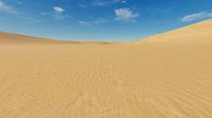 Motion to horizon through sandy desert Stock Footage