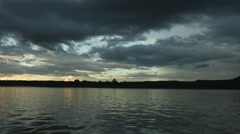 Sunset on a Lake - stock footage