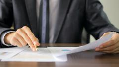 Assessment of financial results  Stock Footage