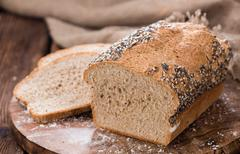 Homemade loaf of bread - stock photo