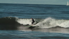 Stock Video Footage of surfer