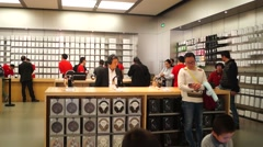 Apple mobile phone shops, in china Stock Footage