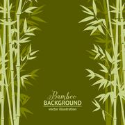 Bamboo forest card Stock Illustration