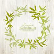 Bamboo decorative frame Stock Illustration