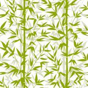 Bamboo seamless pattern - stock illustration