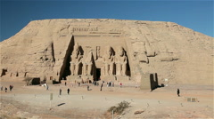 GREAT TEMPLE OF RAMESSES II, ABU SIMBEL, NUBIA, EGYPT Stock Footage