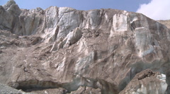 Glacier and the Bhagirathi River at Gangotri in Uttarakhand, India Stock Footage