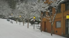 View of snowfall in Ashland Stock Footage