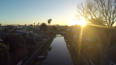 Aerials of Venice Canals at Sunset hour #15 Stock Footage