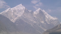 Mountains and clouds at Gangotri in Uttarakhand, India Stock Footage