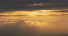 Malaga sunset cloudy sky 4k Stock Footage