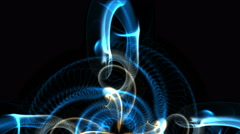 4k Abstract curve smoke lines art background,universe heaven science fiction. Stock Footage