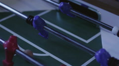 Table Football Kicker Stock Footage