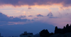 Malaga sunset sky city panoramic view 4k Stock Footage