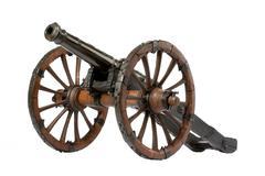 Cannon on a carriage Stock Photos