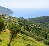 Passo del Bracco (Liguria, Italy) - stock photo