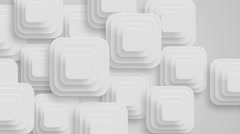 many white small squares moving from right to left, loop - stock footage