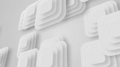 Many white small squares moving from left to right, loop Stock Footage