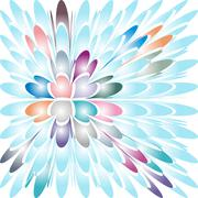 Beautiful abstract coloured background made of irregular shapes - stock illustration