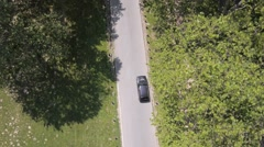 Chasing black car Stock Footage