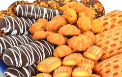 Shortbread, puffs and cookies Stock Photos