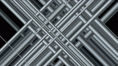 4k Abstract steel iron silver metal pipe,mesh grid network,metallurgy pattern. Stock Footage
