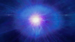 Abstract space motion zoom in LOOP blue Stock Footage