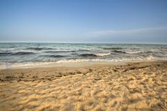 Beach in Hammamet, Tunisia - stock photo