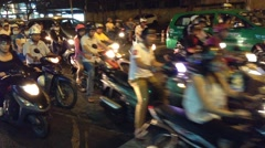 Stock Video Footage of Crazy traffic in Saigon city