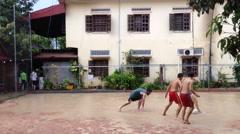 Street football - stock footage