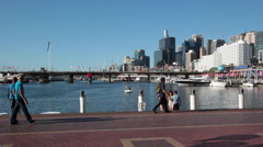 SYDNEY DARLING HARBOR URBAN CITYSCAPE Stock Footage