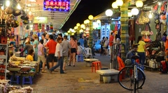Siem Reap night market Stock Footage