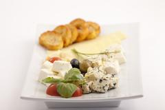 appetizer plate - stock photo