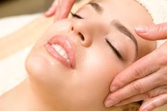 Facial massage - stock photo