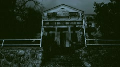 Haunted house at rainy night - stock footage