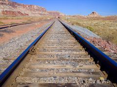 Canyon Traintracks Stock Photos