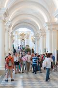 lots of visitors in Hermitage, St.Petersburg - stock photo