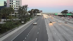 Morning Rush Hour on the Freeway Stock Footage