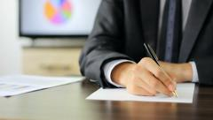 Writing a formal letter Stock Footage