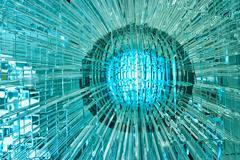 Abstract glass ball. Stock Photos