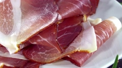 Ham Slices (seamless loopable) Stock Footage