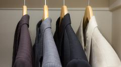 Business suits in the closet - stock photo