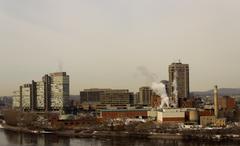 Skyline of Gatineau (Hull), Canada - stock photo
