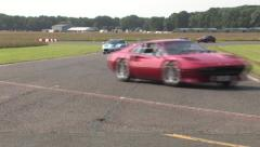 Supercar track parade 6 Stock Footage