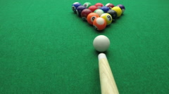 Snooker balls in slow motion Stock Footage