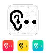 Hearing abstract icon Stock Illustration