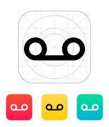 Voice mail icon Stock Illustration