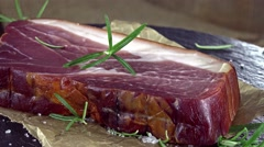 Piece of Ham (not loopable) Stock Footage