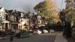 Residential street in timelapse Stock Footage