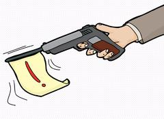 Loud Gun Symbol Stock Illustration